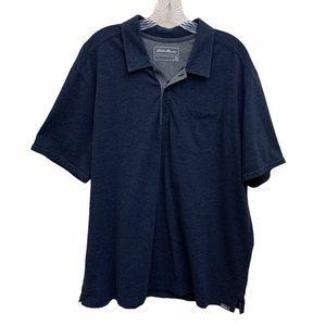 Eddie Bauer Men's Outdoor Polo Shirt Blue Size 2XL